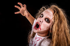 Teen girl in costume zombie. Stock Photography