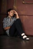Teen girl crying Stock Photo
