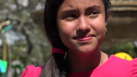 Teen Girl Crying at Public Park. Stock video of teen crying at public park stock video