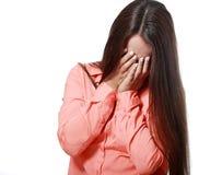 Teen girl crying Stock Image