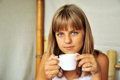Teen girl with cup Stock Image