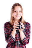 Teen girl with the cup Royalty Free Stock Photography