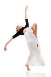 Teen girl dancer isolated on white Royalty Free Stock Photography