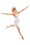 Teen girl dancer isolated on white Royalty Free Stock Images
