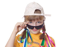 Teen girl with dark glasses Royalty Free Stock Image