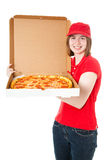 Teen Girl Delivering Pizza Royalty Free Stock Photo
