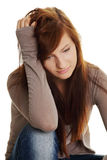Teen girl in depression Stock Images