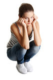 Teen girl in depression Royalty Free Stock Image