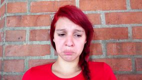 Teen Girl Distressed And Tearful stock footage