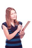 Teen girl drawing Royalty Free Stock Photography