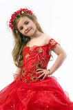 Teen girl in a dress Royalty Free Stock Photo