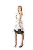 Teen girl in elegant white dress Stock Photo