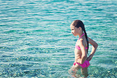 Teen girl enjoying the sea Royalty Free Stock Photography