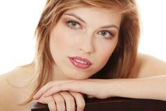 Teen girl in evening make up Stock Photography