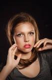 Teen girl with an evening makeup Stock Photography