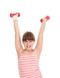 Teen girl exercise Stock Image
