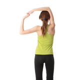 Teen girl exercising Royalty Free Stock Photography