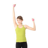 Teen girl exercising Royalty Free Stock Images