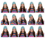 Teen girl expressions royalty free stock photo