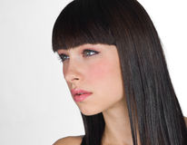 Teen girl face Royalty Free Stock Photo