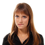 Teen girl face Stock Images