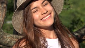Teen Girl Face Smiling stock footage