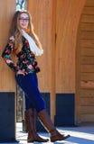 Teen girl-fall fashion 3 Stock Photos
