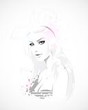 Teen girl, fashion illustration Stock Images