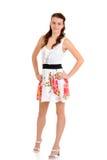 Teen girl in flower summer dress Royalty Free Stock Photo