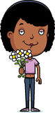 Teen Girl Flowers Royalty Free Stock Photos