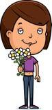 Teen Girl Flowers Stock Images