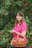 Teen girl  in the garden Stock Photos
