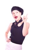 Teen girl gesturing Royalty Free Stock Photos
