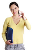 Teen girl gesturing perfect. royalty free stock image
