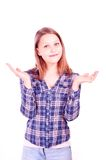 Teen girl gesturing Royalty Free Stock Photography