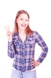Teen girl gesturing Royalty Free Stock Images