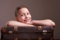 Teen girl going on vacation Royalty Free Stock Images