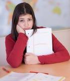 Teen girl got bad grade Stock Image