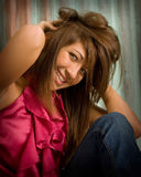 teen girl with great smile Stock Photo