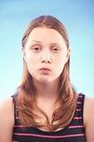Teen girl grimacing Royalty Free Stock Photos