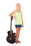 Teen girl guitar Stock Image