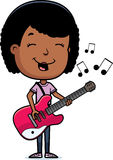 Teen Girl Guitar Royalty Free Stock Photo