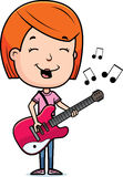 Teen Girl Guitar Royalty Free Stock Photography