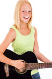 Teen girl guitar Royalty Free Stock Images