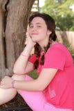 Teen girl happy Royalty Free Stock Photography