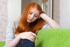 Teen girl  having disappointment Stock Images