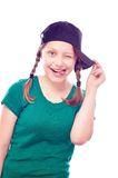 Teen girl having fun Royalty Free Stock Photos