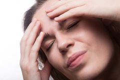 Teen girl with headache Royalty Free Stock Images