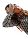 Teen girl with headache and high temperature Stock Photography