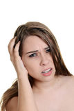 Teen girl with a headache Stock Photography